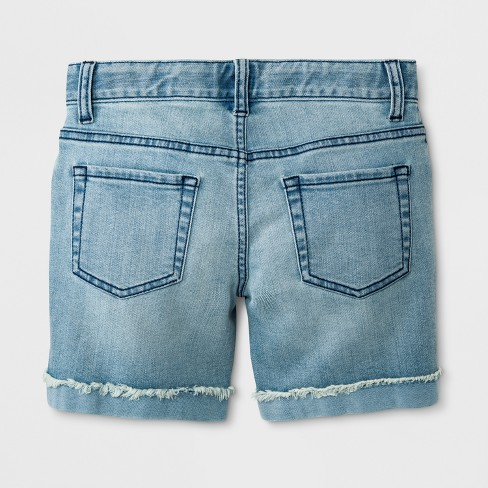 f6ac4aa214 Girls' Jean Shorts - Cat & Jack™ Cloud : Target
