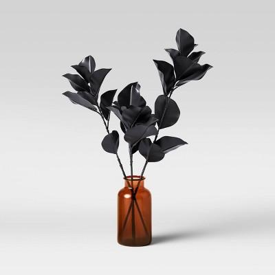 "20"" x 16"" Artificial Blackened Eucalyptus Plant Arrangement in Glass Pot - Threshold™"