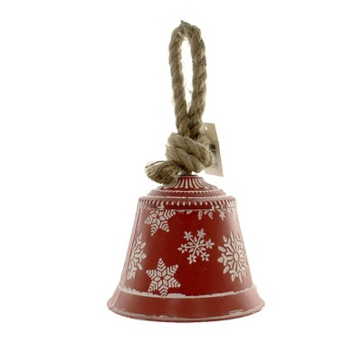 "Christmas 6.0"" Snowflake Bell 6.0 Inches Jute Hanger Metal  -  Decorative Figurines"