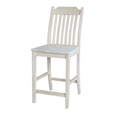 """24"""" Mission Counter Height Barstool Unfinished - International Concepts"""