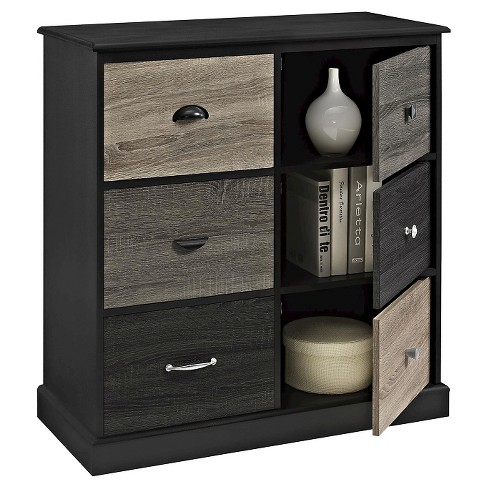 Montgomery 6 Door Storage Cabinet With Multicolored Fronts Black Room Joy Target