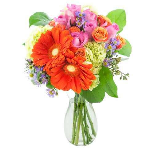 KaBloom Daisy Spring Step Fresh Flower Arrangement - with Vase - image 1 of 1