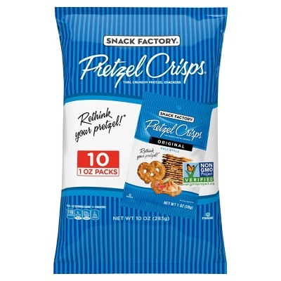 Snack Factory Original Flavored Pretzel Crisps Crackers - 1oz/10pk