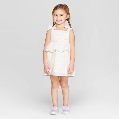 Toddler Girls' A-Line Dresses - Cat & Jack™ White 12M
