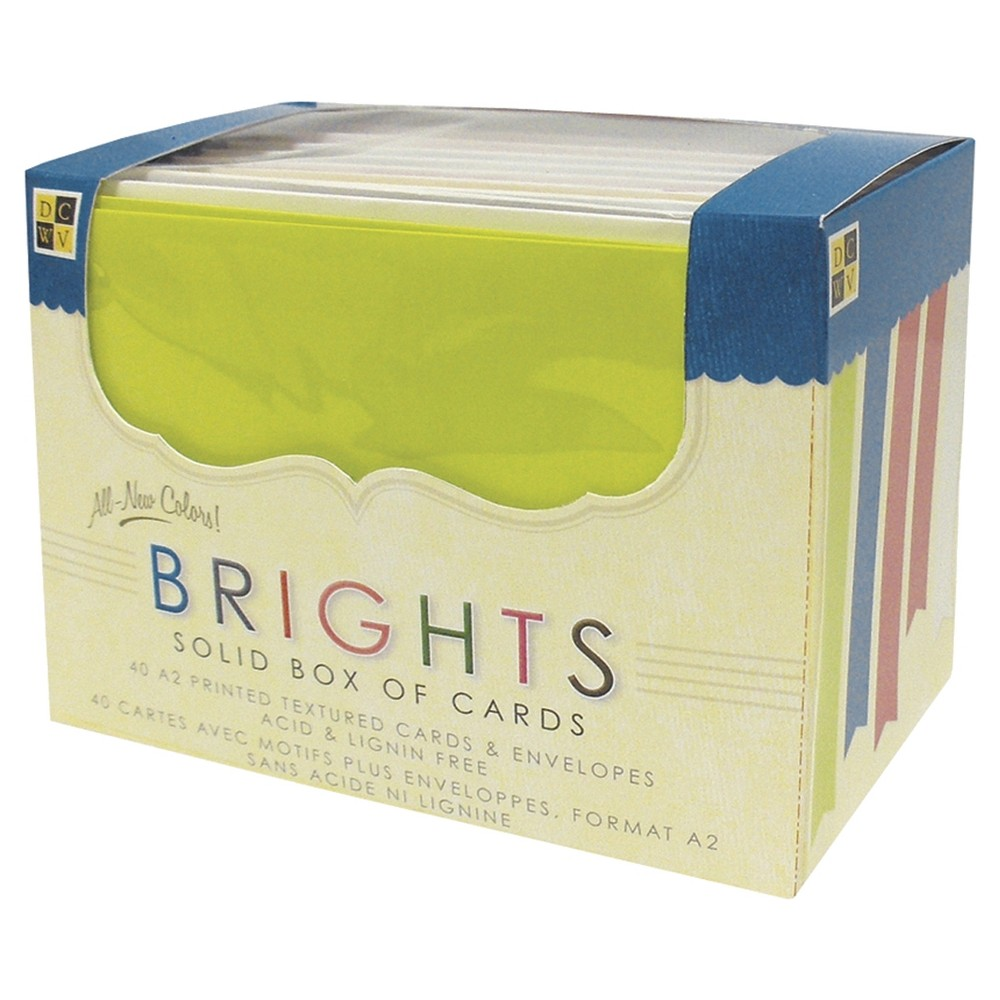 Image of DCWV 40ct A2 Cards & Envelopes - Bright Solids