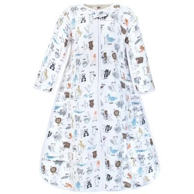 Hudson Baby Unisex Baby Long Sleeve Muslin Sleeping Bag, Wearable Blanket, Sleep Sack, Alphabet Animals