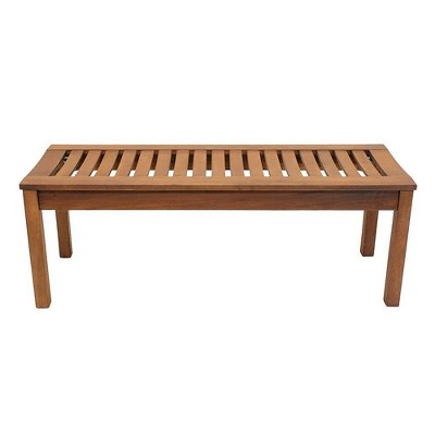 """48"""" Eucalyptus Backless Bench Natural Oil Finish - ACHLA Designs"""