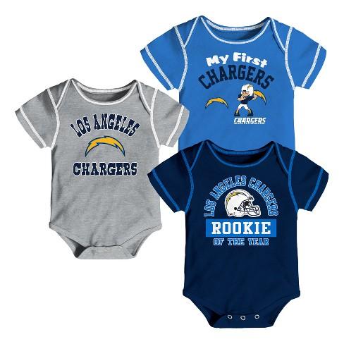 NFL Los Angeles Chargers Boys  Newest Fan 3pk Bodysuit Set   Target 7ae692f64