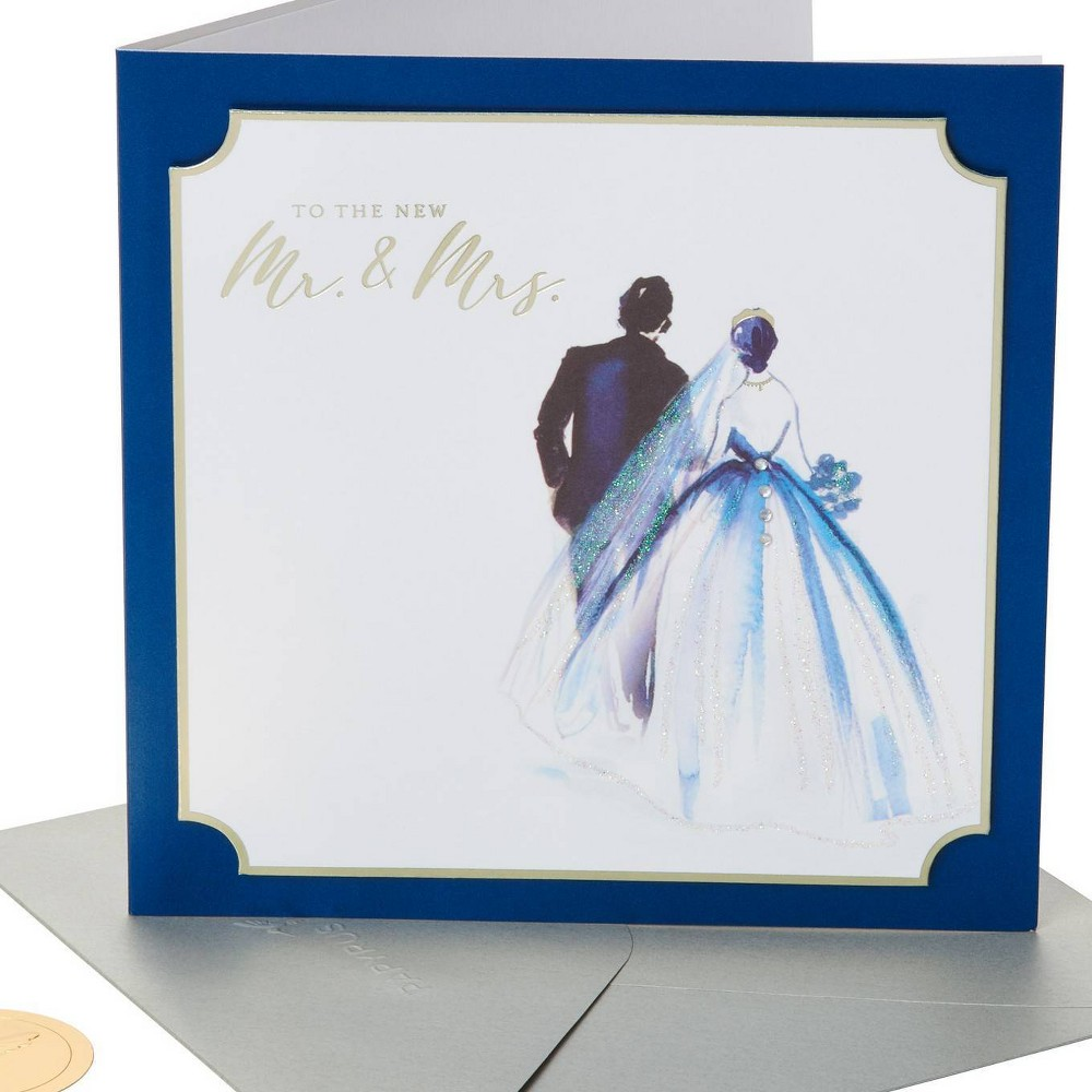 Image of Wedding Painterly Couple Greeting Card