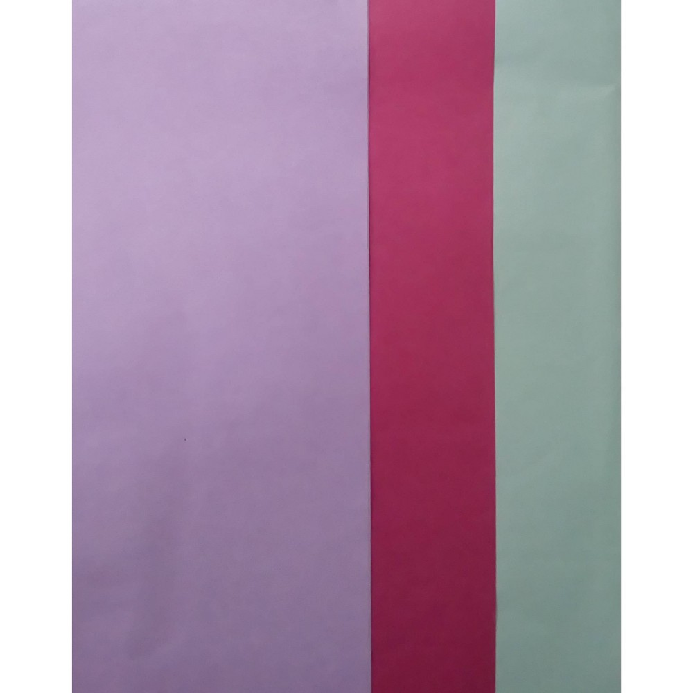3 Step Banded Tissue Paper Purple Pink Turquoise Spritz 8482