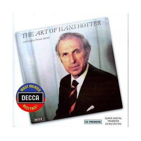 Schubert - Most Wanted Recitals!: The Art Of Hans Hotter (CD) - image 1 of 1