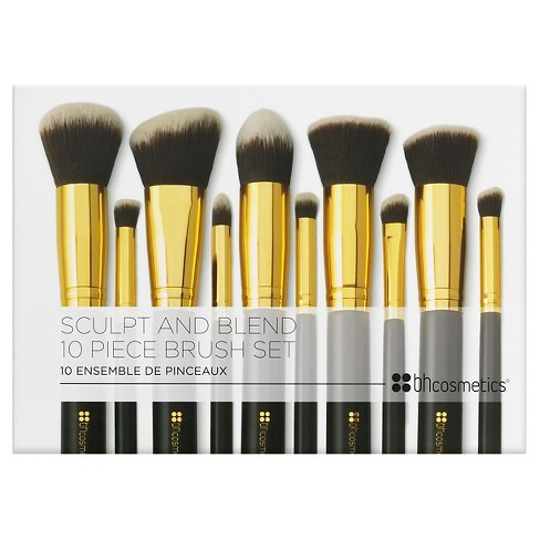 1c14d57969bb BH Cosmetics Sculpt And Blend Cosmetic Brush Set - 10ct   Target