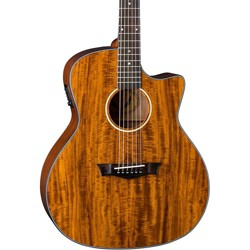 Dean Exotic Gloss Koa Cutaway Acoustic-Electric Guitar Natural