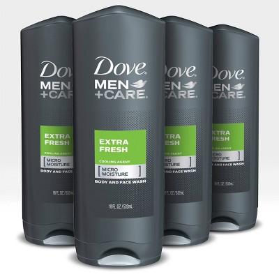Dove Men+Care Extra Fresh Micro Moisture Cooling Body Wash - 18 fl oz/4ct