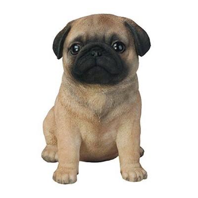 "6"" Polyresin Pug Puppy Statue Tan - Hi-Line Gift"