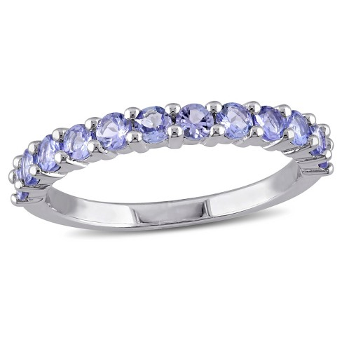 .84 CT. T.W. Tanzanite Stacking Ring in Sterling Silver - image 1 of 3