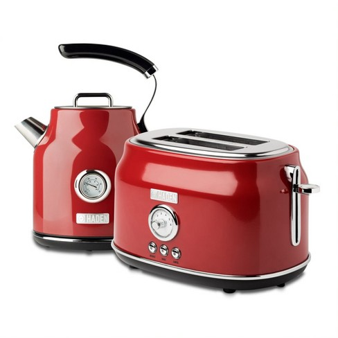 Haden Dorset Wide Slot Stainless Steel 2 Slice Retro Toaster & Dorset 1.7 Liter Stainless Steel Electric Water Kettle - image 1 of 4