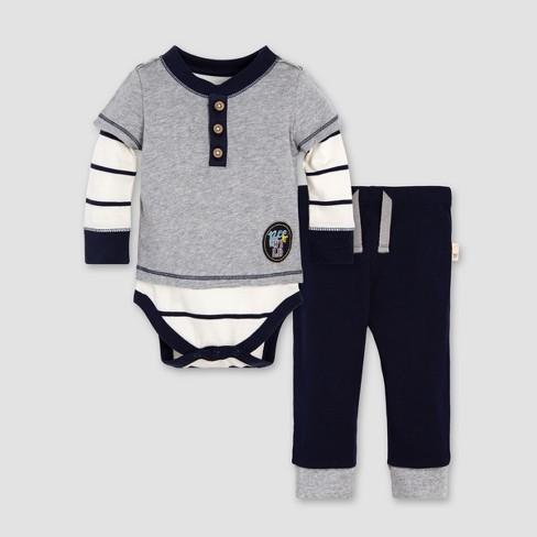 335b26510 Burt s Bees Baby® Boys  Organic Cotton 2Fer Bodysuit   Pant Set ...