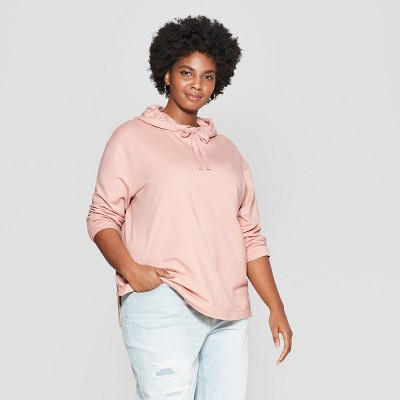Women's Plus Size Pullover Hoodie - Ava & Viv™ Light Pink 3X