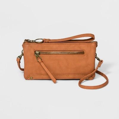 Women's Zip Closure Large Wallet On A String - Universal Thread™ Cognac