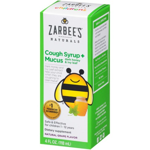 Zarbee's Naturals Children's Cough & Mucus Reducer Syrup - Natural Grape - 4 fl oz - image 1 of 5