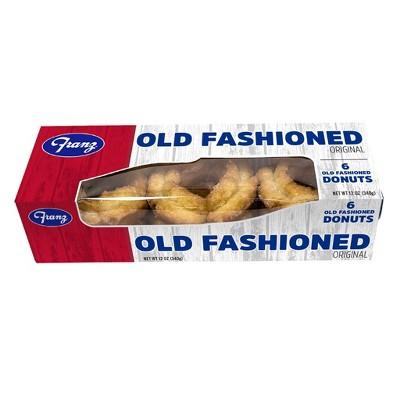 Franz Donuts Glazed Old Fashion Donut - 6ct/12oz