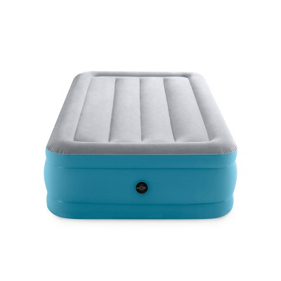"Intex Raised Airbed 16"" Air Mattress with Hand Held 120V Pump - Twin Size"