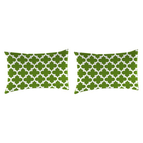 Outdoor Set Of 2 Rectangular Accessory Toss Pillows In Fulton Bay Green - Jordan Manufacturing - image 1 of 1