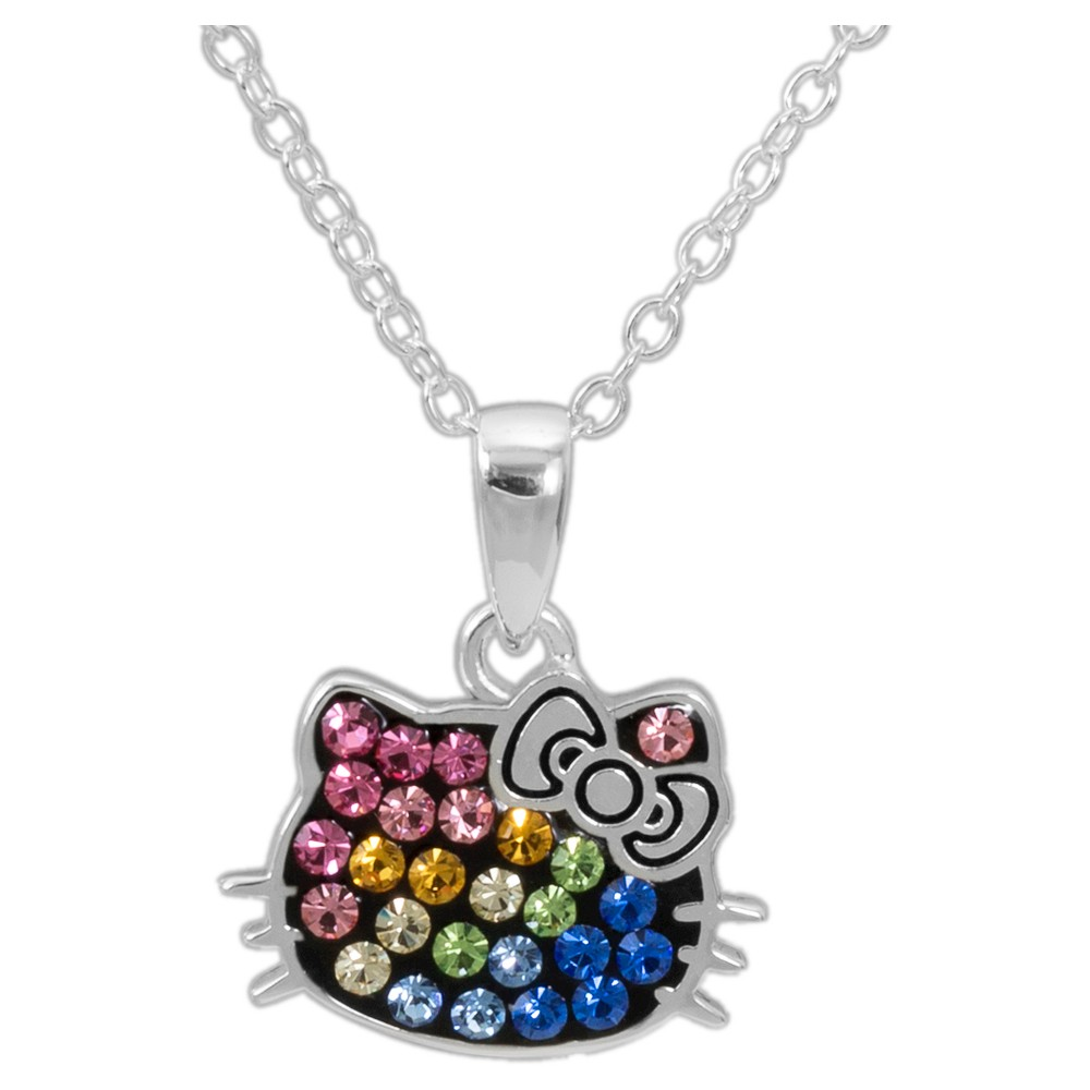 Sanrio Hello Kitty Rainbow Pendant Necklace, Silver
