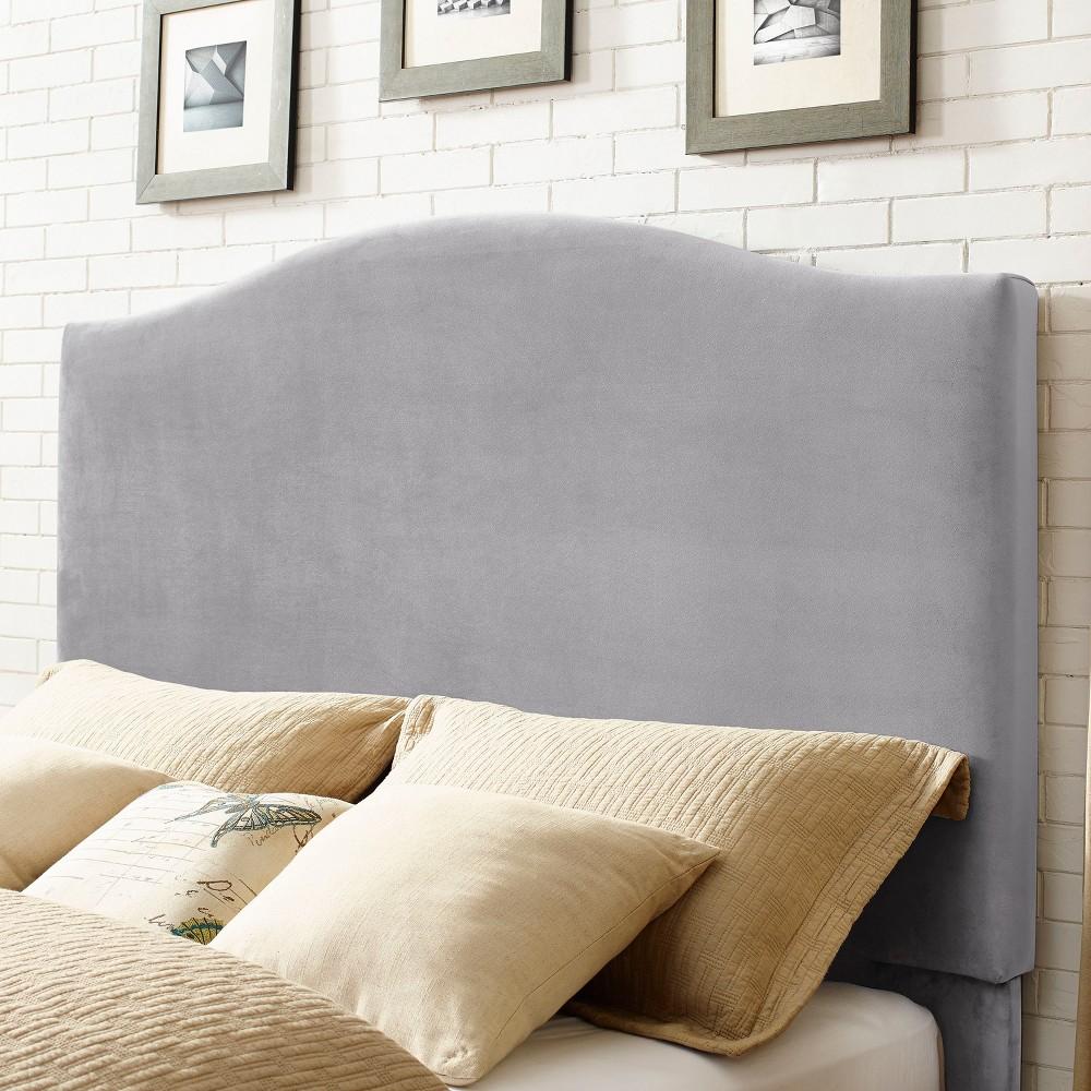 Bellingham Camelback Upholstered Full/Queen Adult Headboard Shale - Crosley