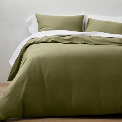 Heavyweight Linen Blend Duvet & Pillow Sham Set - Casaluna™