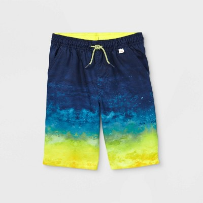 Boys' Wave Tie-Dye Swim Trunks - Cat & Jack™ Yellow