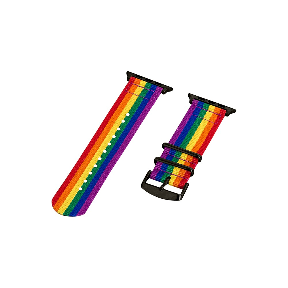 Clockwork Synergy Classic Nato 2 Apple Watch Band 38mm with Black Adapter - Rainbow, Adult Unisex, Multicolored Clockwork Synergy Classic Nato 2 Apple Watch Band 38mm with Black Adapter - Rainbow Color: Multicolored. Gender: Unisex. Age Group: Adult.