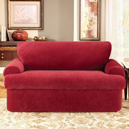 Stretch Pique 3 Piece T Loveseat Slipcover Sure Fit Target