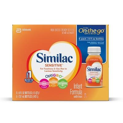 Similac® Sensitive On-the-Go Infant Formula - 8 fl oz/6ct Bottles