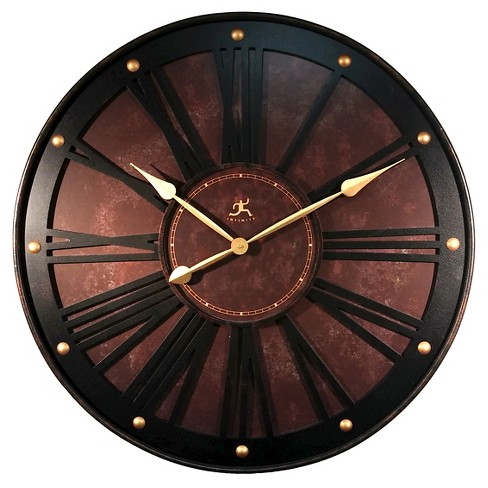 "Arcadian 31"" Round Wall Clock Brown/Black - Infinity Instruments® - image 1 of 1"