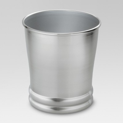 Brushed Metal Wastebasket Silver - Threshold™