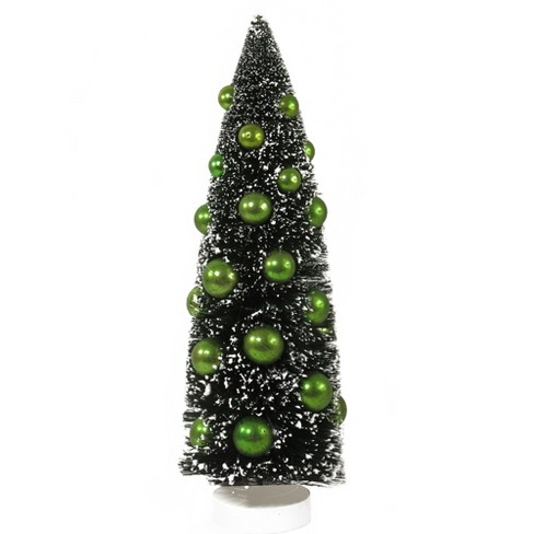 Northlight 15 Dark Green Sisal Christmas Tree With Green Ornaments Table Top Decoration