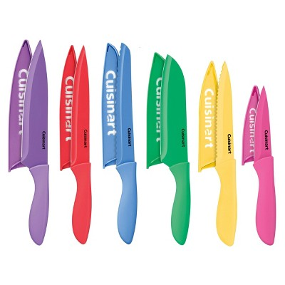 Cuisinart Advantage 12pc Ceramic-Coated Color Knife Set With Blade Guards- C55-12PC2T