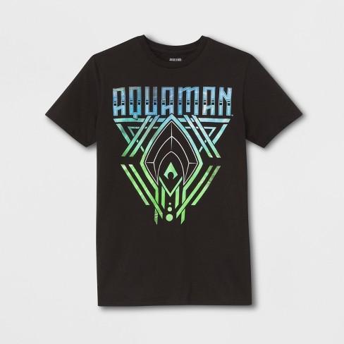 9e9868745 Men's Short Sleeve DC Comics Aquaman Crew T-Shirt - Black : Target
