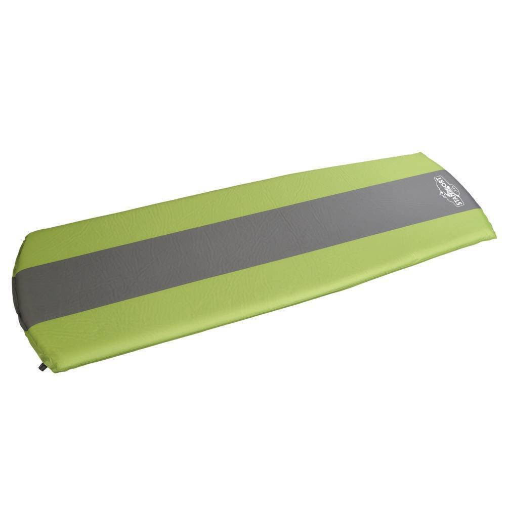 Stansport Tapered Self Inflating Twin Air Mattress - Green