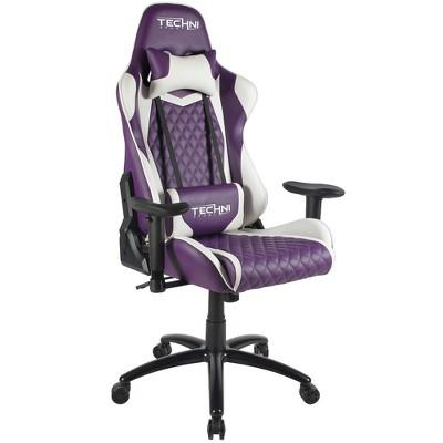 Ergonomic High Back Racer Style Video Gaming Chair Purple - Techni Sport