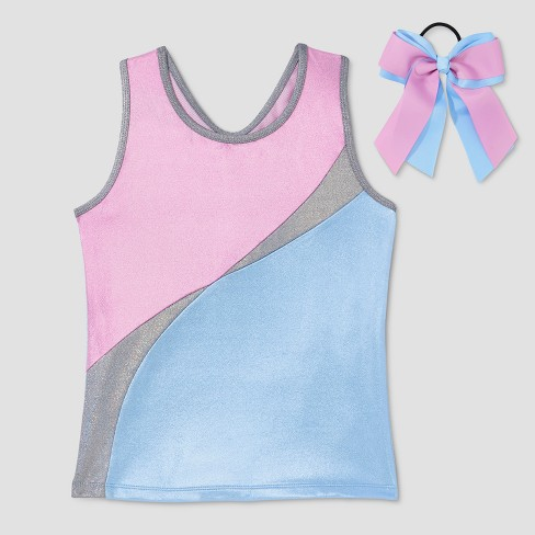 Freestyle by Danskin Girls' Activewear Tank Tops - Blue - image 1 of 2