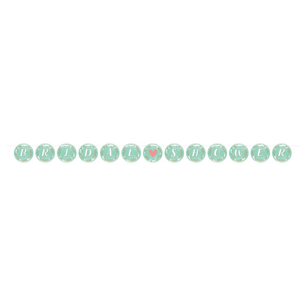 Mint to Be Bridal Shower Ribbon Banner