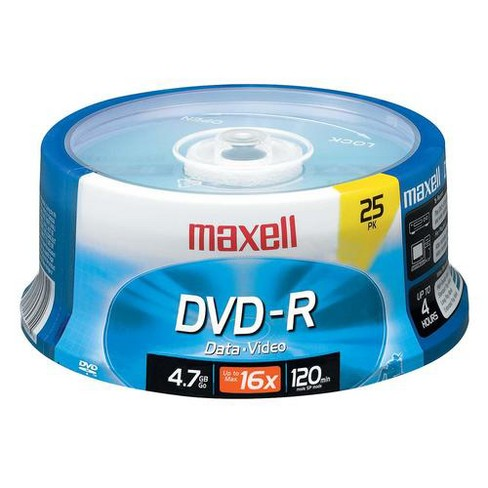 25pk dvd-r 4.7gb 16x spindle - image 1 of 1