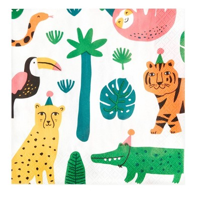 20ct Jungle Print Lunch Napkin - Spritz™