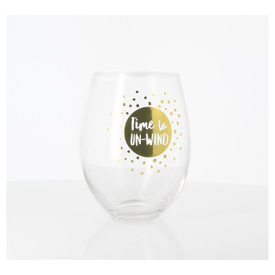 25oz Giant Wine Glass Gold