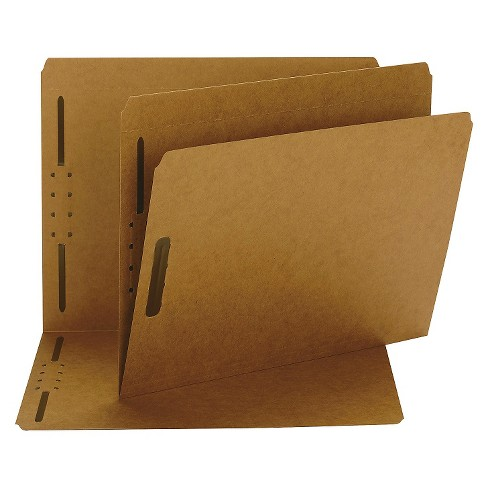 Smead Kraft K Style Fastener File Folders, Straight Cut, Top Tab, Letter, Brown, 50/Box - image 1 of 1