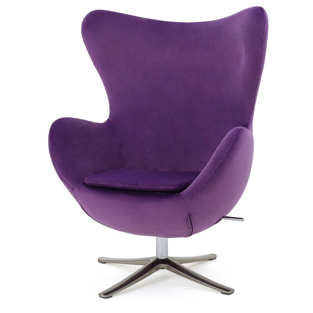 Gordon Swivel Chair - Eggplant New Velvet - Christopher Knight Home