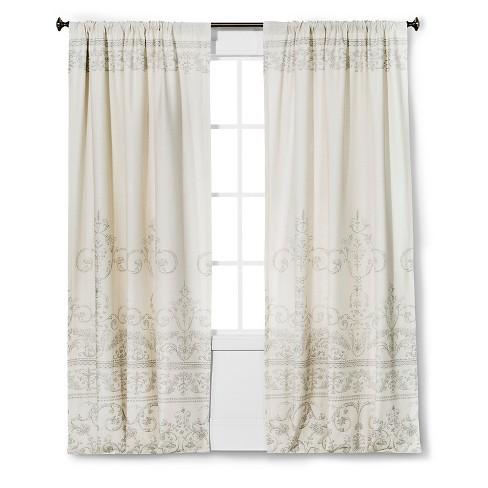 "Vintage Gate Curtain Panel Cream (55""x95"") - The Industrial Shop™ - image 1 of 1"